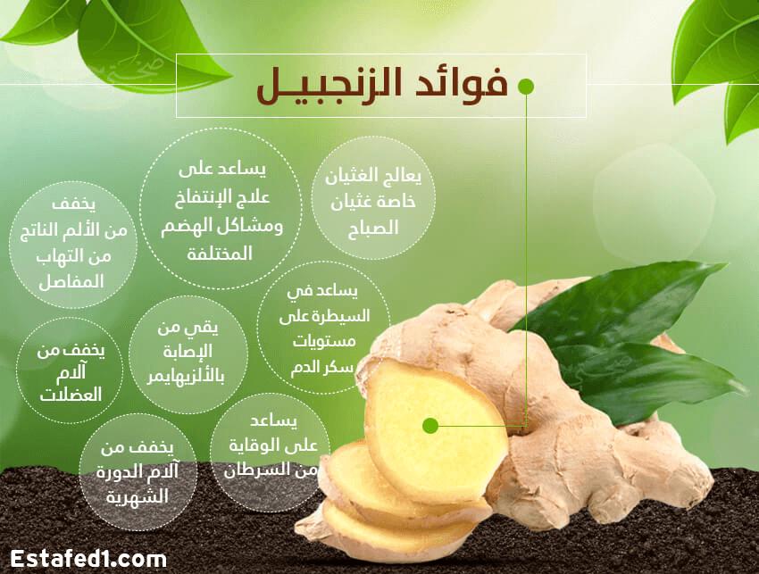 فوائد الجنزبيل لصحة الجسم